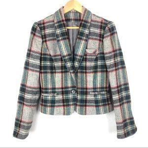 VINTAGE Preppy Plaid Blazer Jacket